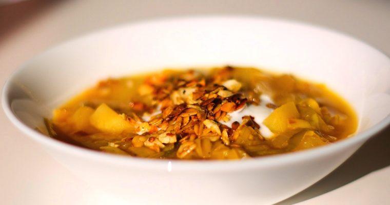 Rychlá pórková polévka