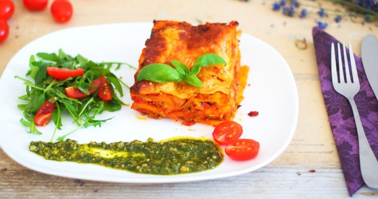 Rychlé lasagne somáčkou marinara, mletým masem amozzarellou