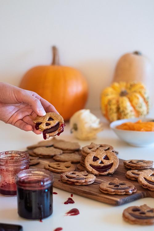 Dýňové halloweenské sušenky
