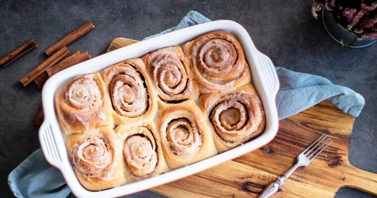 Celozrnné cinnamon rolls