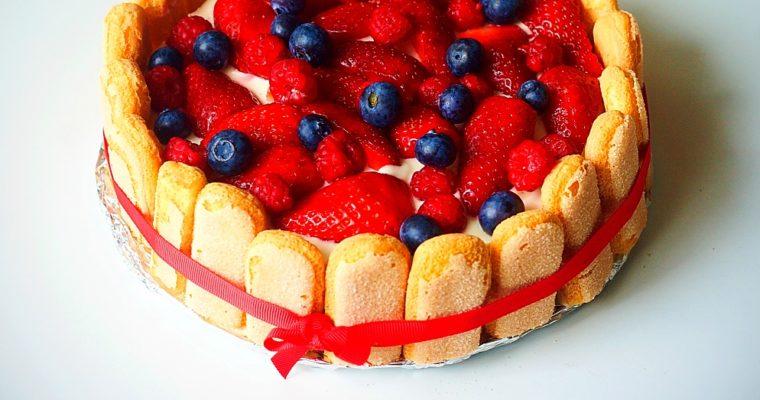 Ovocný jarní dort