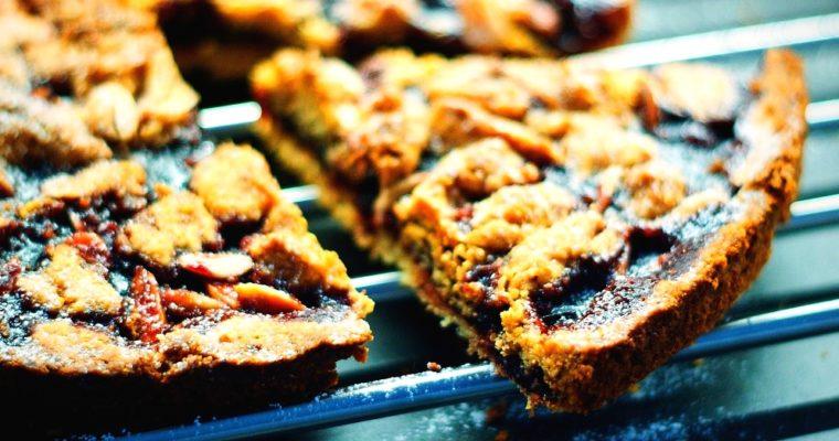 Višňový koláč smandlemi