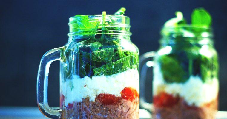 Špenátový salát stuňákem