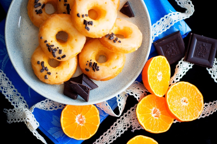 Pečené pomerančové donuty
