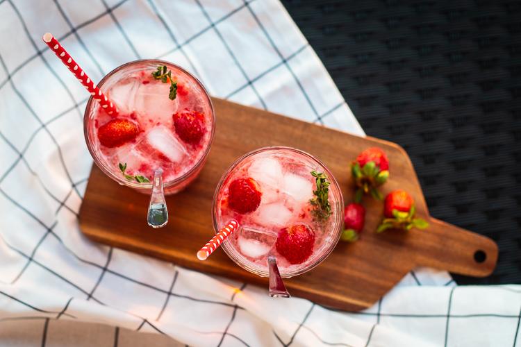 Domácí jahodová limonáda