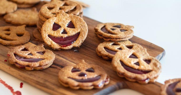 Halloweenské dýňové sušenky